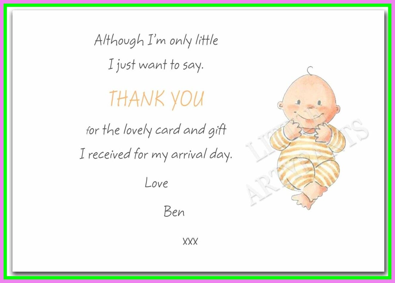55 reference of baby shower gift thank you card messages