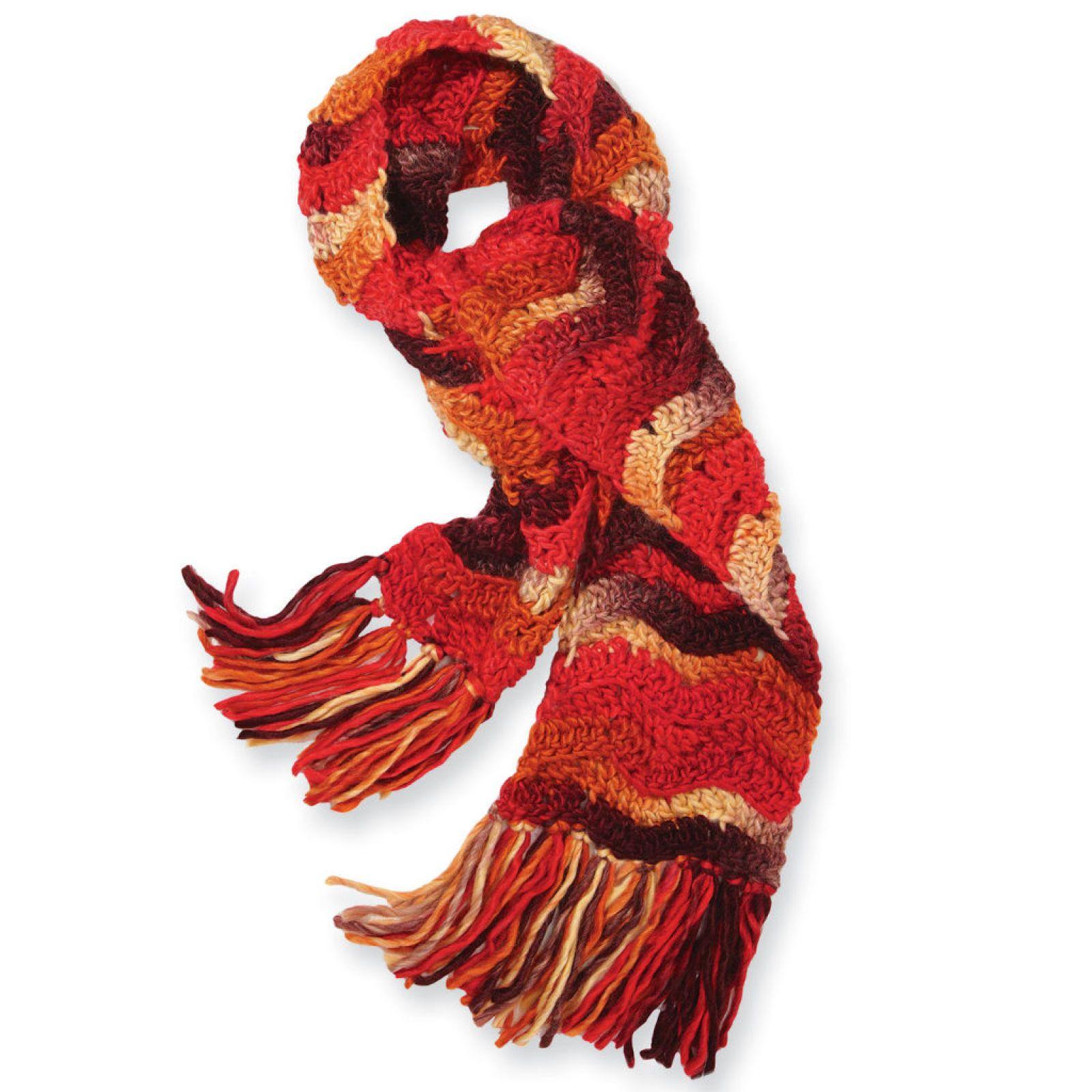 Isaac Mizrahi CRAFT Sutton Chevron Scarf (Crochet ...