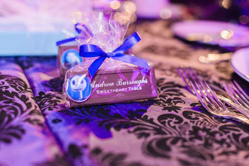 Nightmare Before Christmas Wedding Favors - Haunted Mansion Inspired Wedding at the Grand Floridian Resort at Walt Disney World - Disney Wedding - Click pin for more - www.orangeblossombride.com
