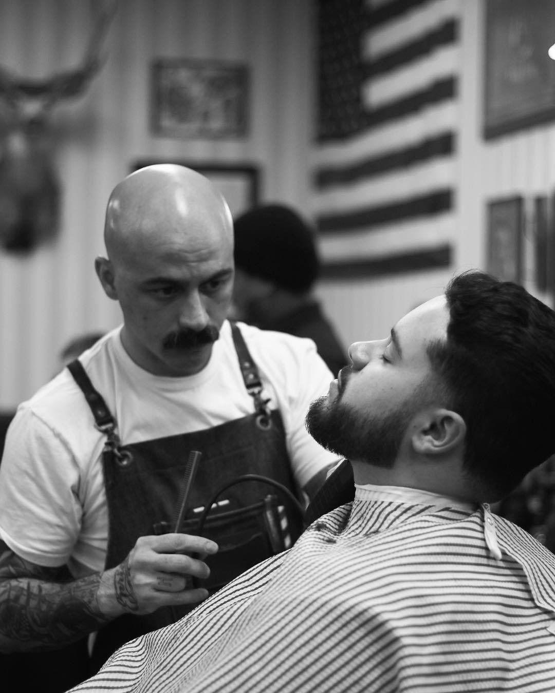 Moustache barber male pattern baldness hair a