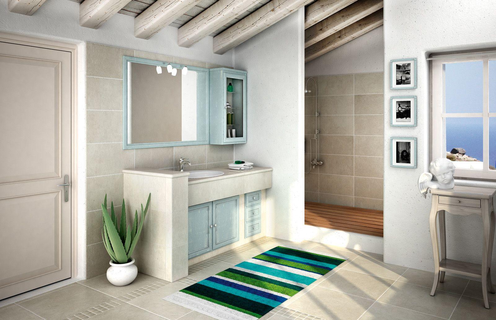 Mobile bagno: classico, effetto muratura | Naked