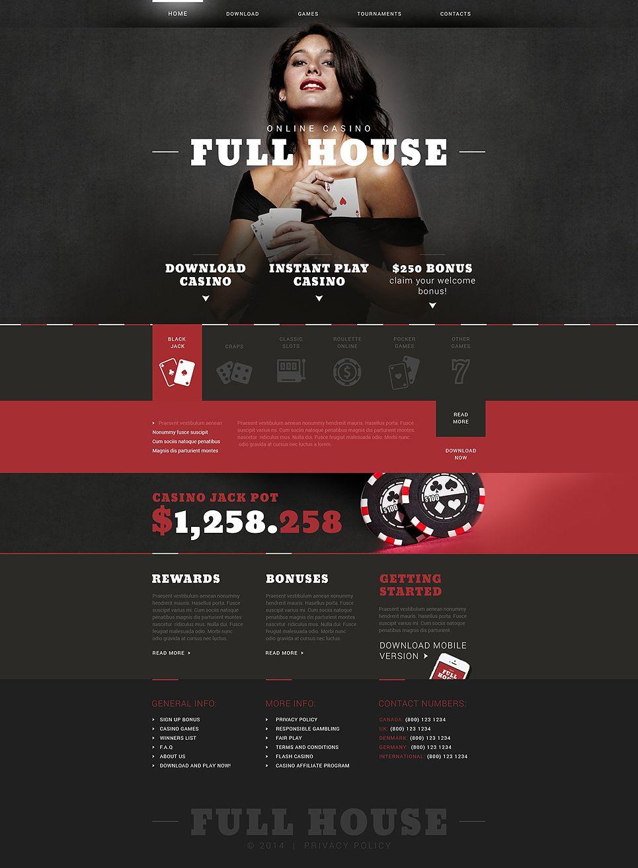 Online Casino Responsive Website Template Casino Online Responsive Casino Full House Online Casino