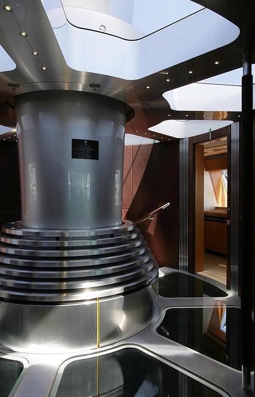 Maltese Falcon Mast Below Deck Yacht Interior Design Sailing
