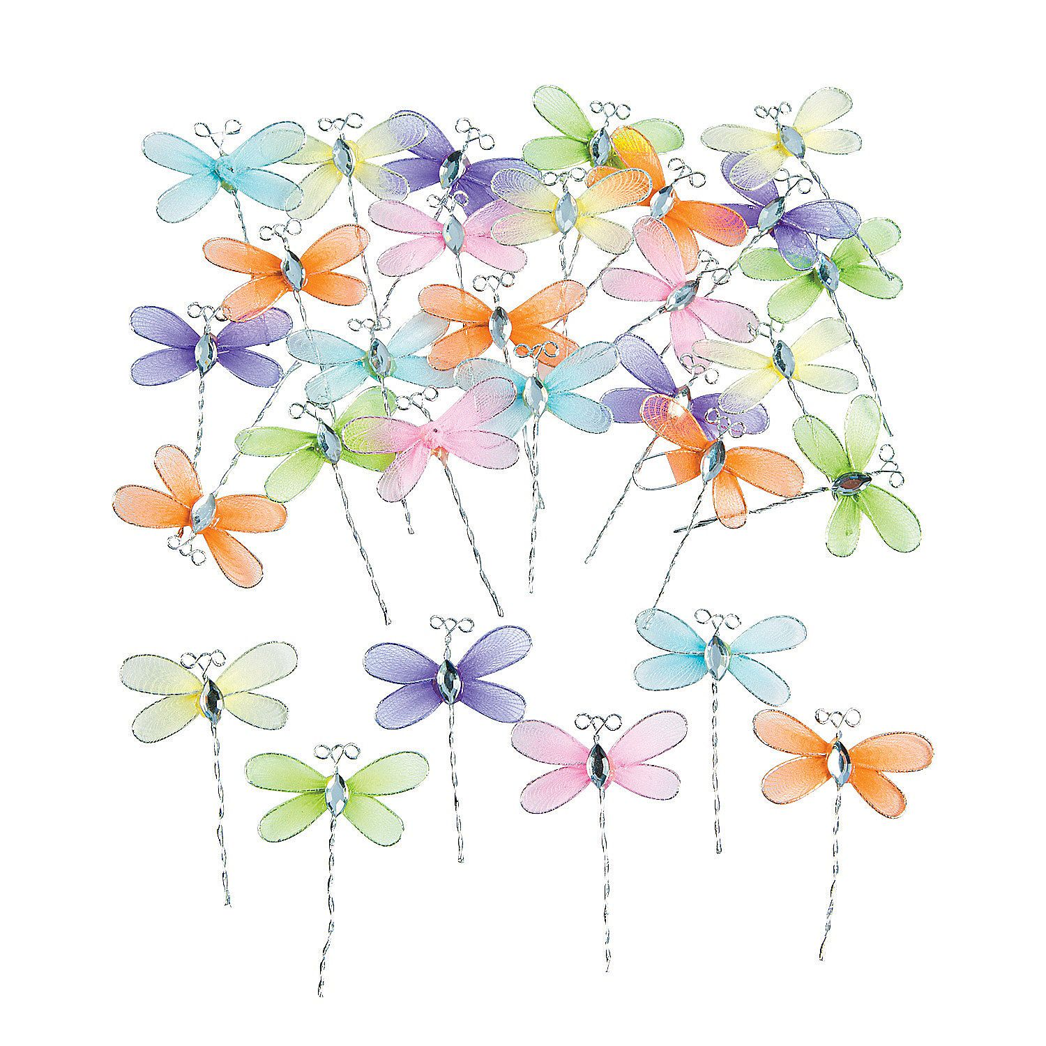 Dragonflies orientaltrading fun crafting time pinterest use these fluttery dragonfly friends for craft projects adding some flair to potted plants creating your own hair accessories and more jeuxipadfo Gallery