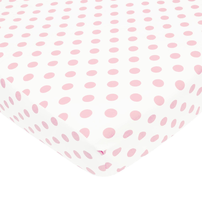 Tl Care Polka Dot Flannel Crib Sheet Flannel Crib Sheets