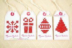 Gift Tags E Biglietti Di Auguri Di Natale Da Stampare E Ricamare
