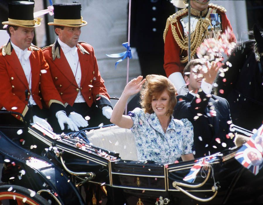 Sarah Ferguson Fergie Duchess of York flies to US after