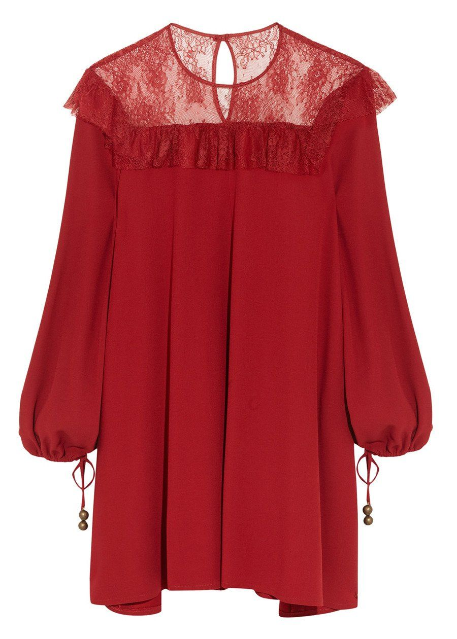 Philosophy long sleeve mini dress red products pinterest
