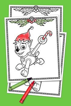 Paw Patrol Holiday Coloring Pack Paw Patrol Coloring Paw Patrol Coloring Pages Paw Patrol Christmas
