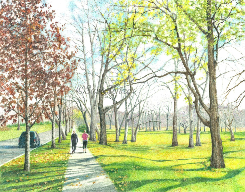 Весна в городе картинки нарисованные