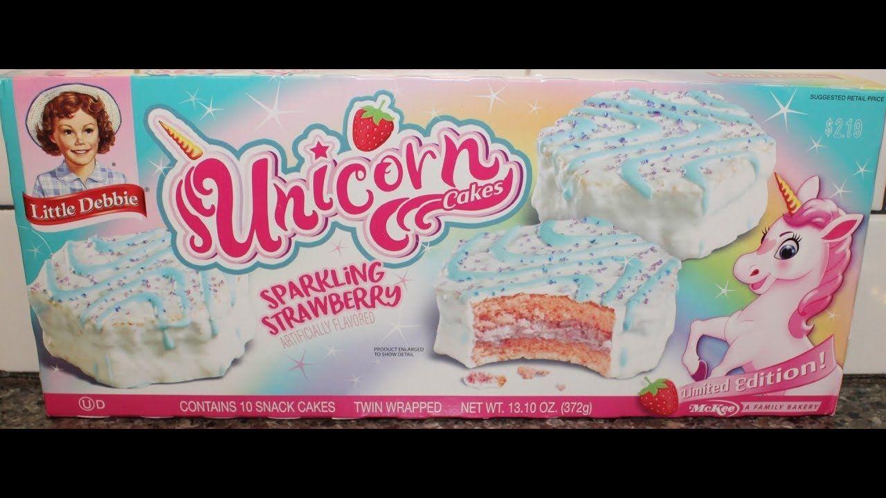 Little debbie unicorn cakes sparkling strawberry review