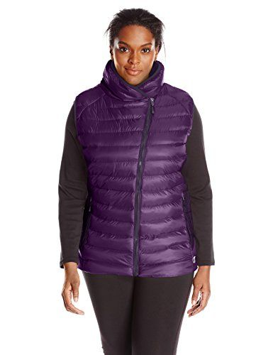 Champion Womens Plus Size Puffer Asymmetric Vest Deep Violet Purple 1X * Visit the image link more details.(This is an Amazon affiliate link and I receive a commission for the sales)