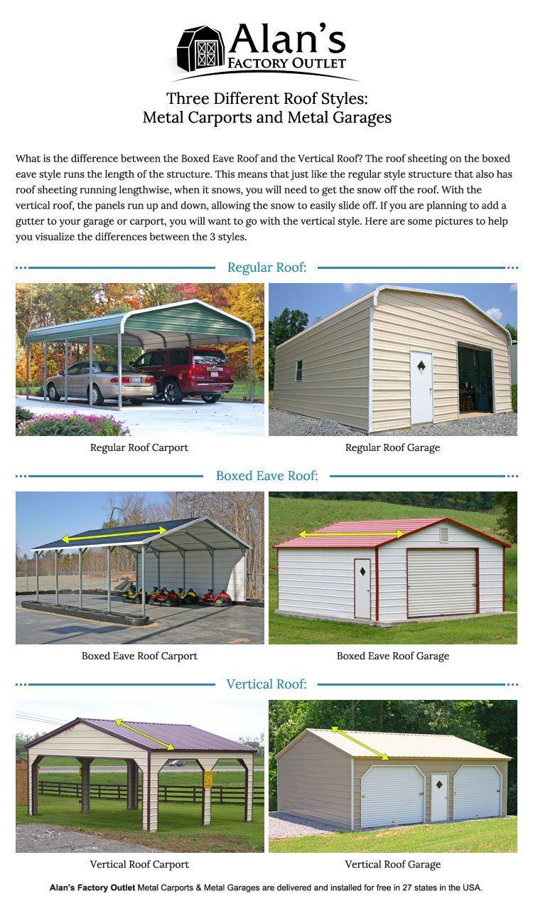 Metal Carport Roof Styles Metal Garage Buildings Metal Carports