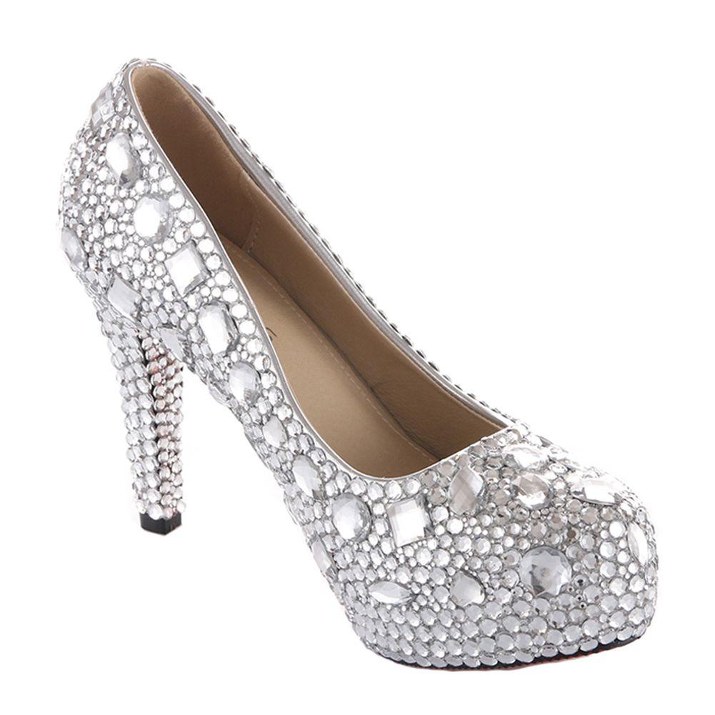 22+ Silver rhinestone wedding shoes ideas