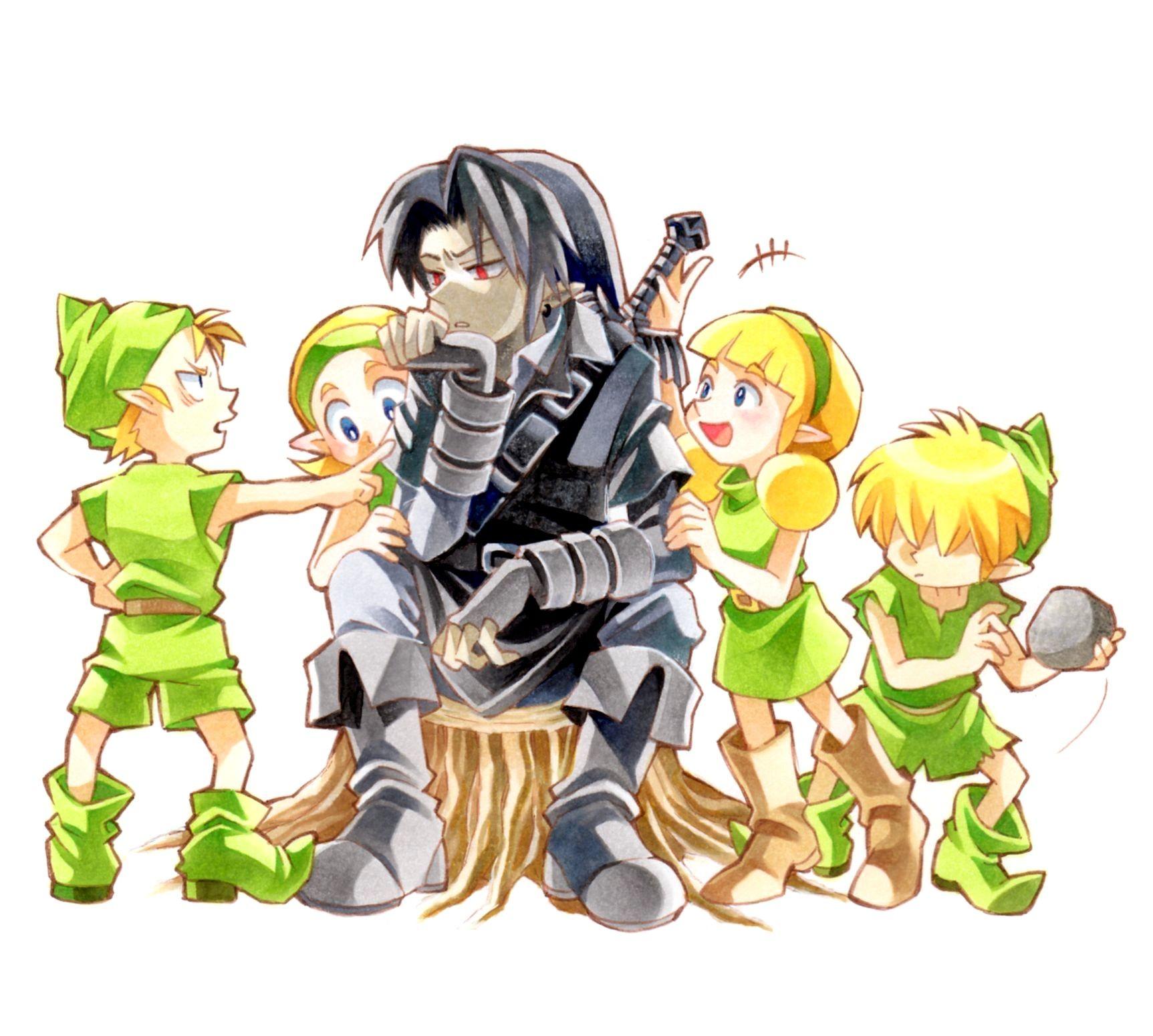 A dark Link in Kokiri Village! | Legend of zelda, Zelda ...