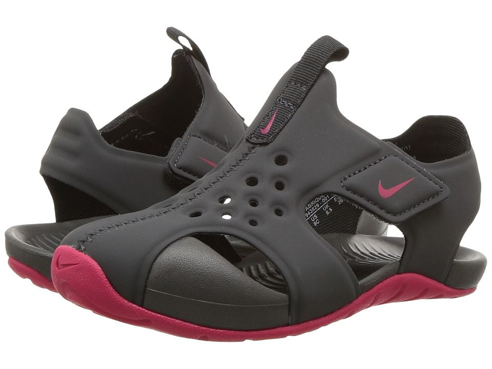 c068b2162ffe4 Nike Kids Sunray Protect 2 (Infant Toddler) (Anthracite Rush Pink) Girls  Shoes  hot