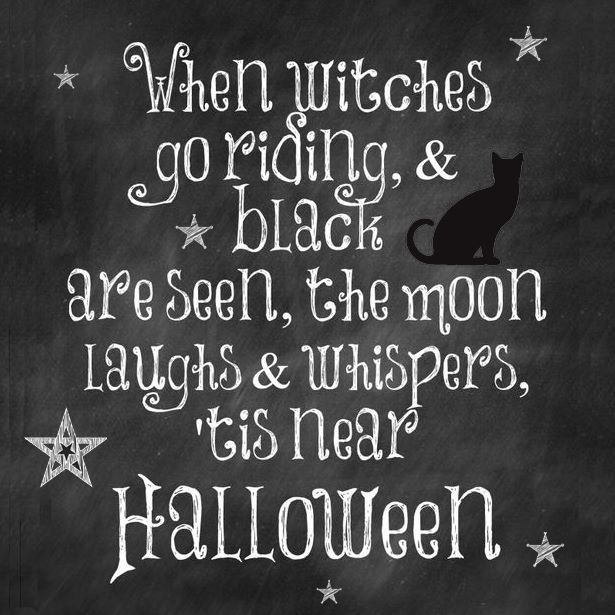 When Witches Go Riding And Black Cats Are Seen: Free Halloween Printable  (Halloween Printables Cards)