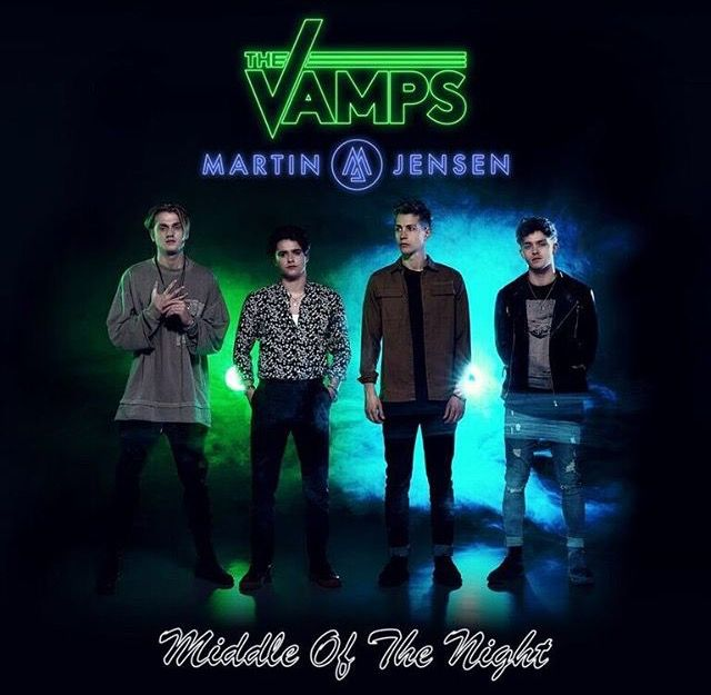 "The Vamps new Single. ""Middle of the Night"" ft. Martin Jensen will be available 28 April"