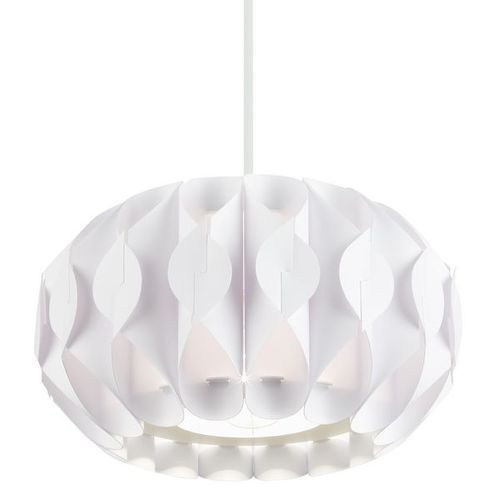 Non Electric Ceiling Pendant Light With White Plastic Shade – White Plastic Chandelier