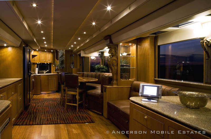 It S An 18 Wheeler Converted Into A Double Decker Motorhome By A Company Called Camper Interior Design Rv Interior Luxury Living