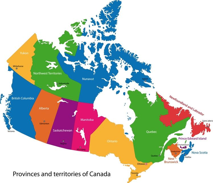 Visit all 13 provinces in Canada