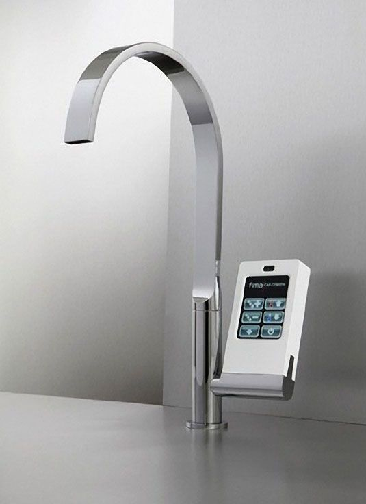 High End Kitchen Faucet With Touch Screen Panel By Fima Kitchen