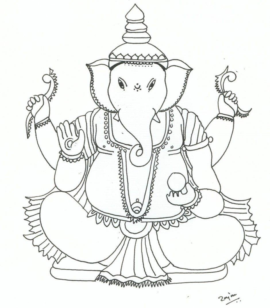 bal ganesh cartoon colouring pages 281999 ganesha coloring pages