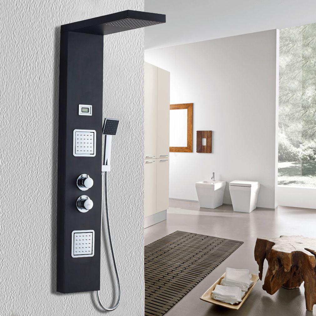 Duscharmatur Unterputz Schwarz Im Badezimmer In 2020