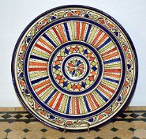 $31.99 Moroccan Handmade 14-inch Safi Yellow Small Plate,by Treasures of Morocco