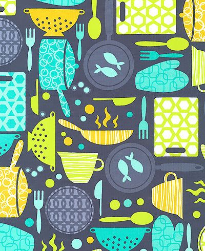 Print Pattern Fabrics Web Round Up How Cute For Kitchen
