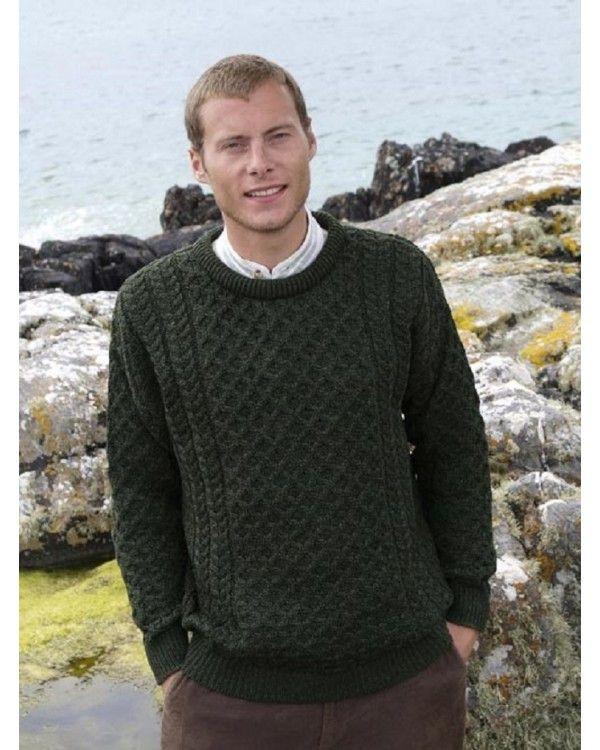 Aran Merino Crew Neck Sweater for Men & Women C1949 - 100% merino ...