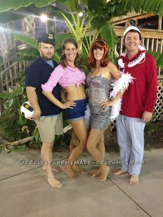 Easy No-Sew DIY Gilligan's Island Group Costume... Coolest Halloween Costume Contest