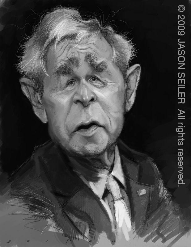 President George Bush ⅈℂa ひ ℰ Pinterest Caricature