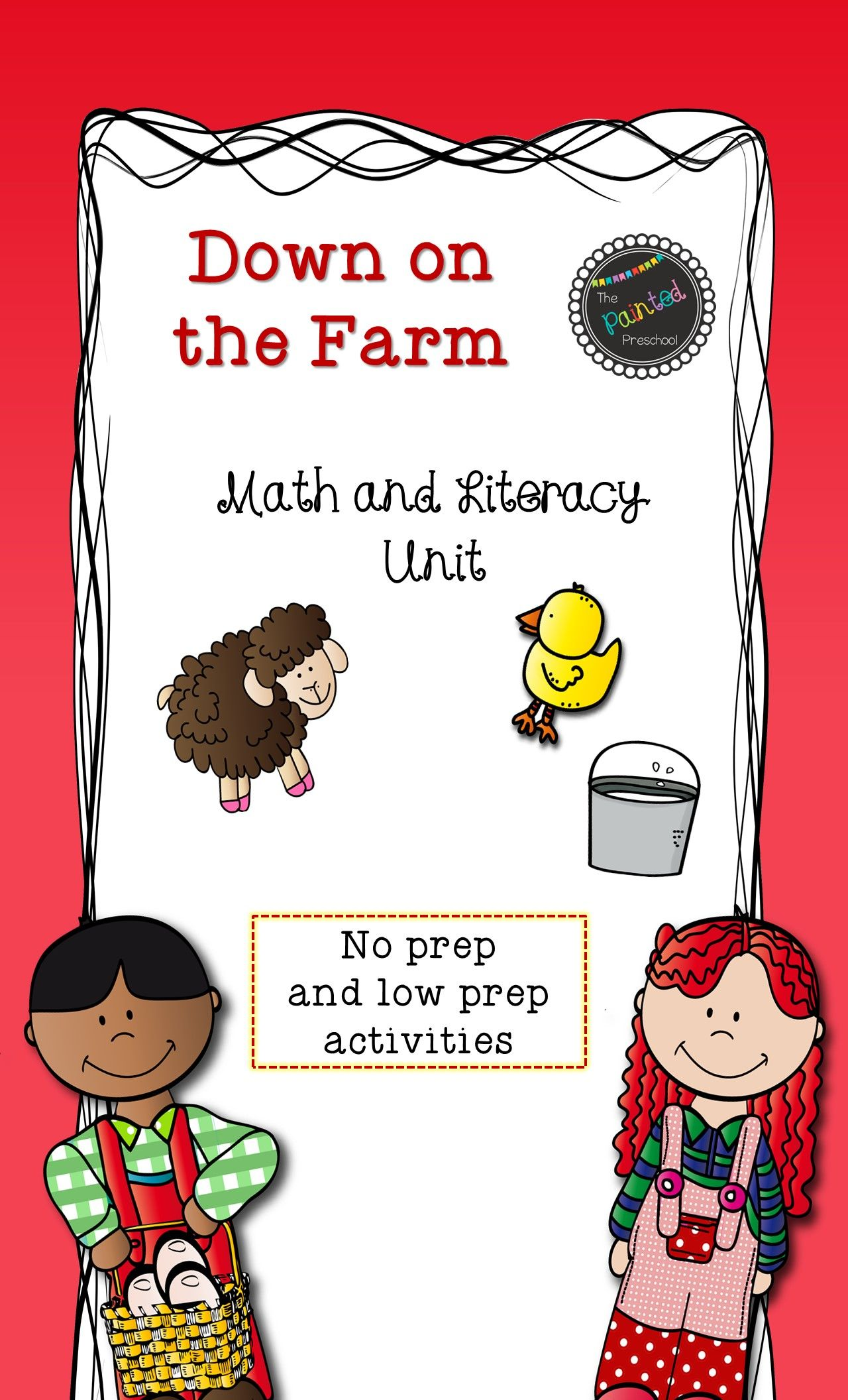This Is A Farm Unit With Math And Literacy Activities And