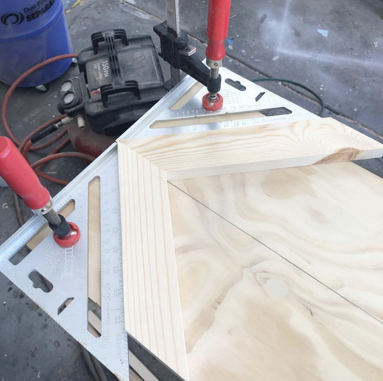 Jig - Starting is the most important step to creating a chevron pattern with wood.Pattern Jig - Starting is the most important step to creating a chevron pattern with wood.