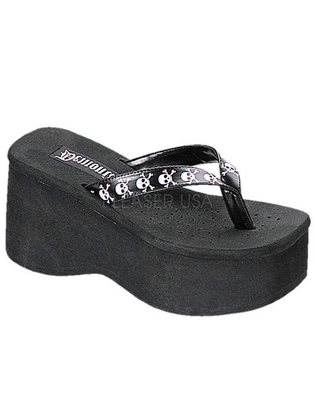 "Women's ""Funn 17"" Sandals by Demonia (Black)"