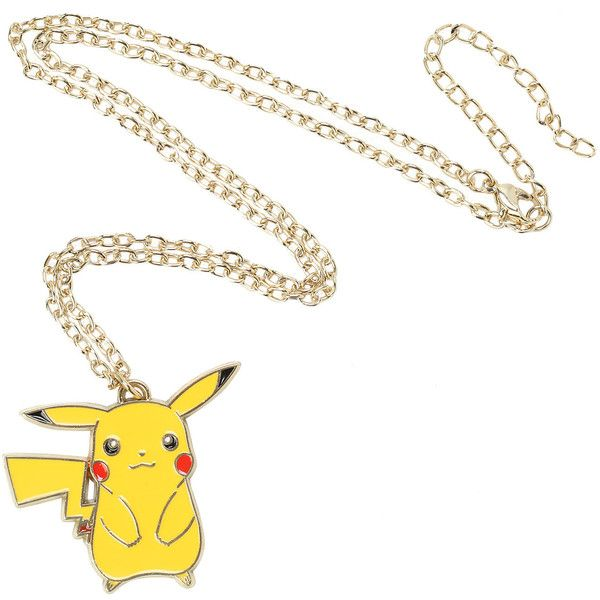 Pokemon Pikachu Necklace Hot Topic ($15) ❤ liked on Polyvore featuring jewelry and necklaces