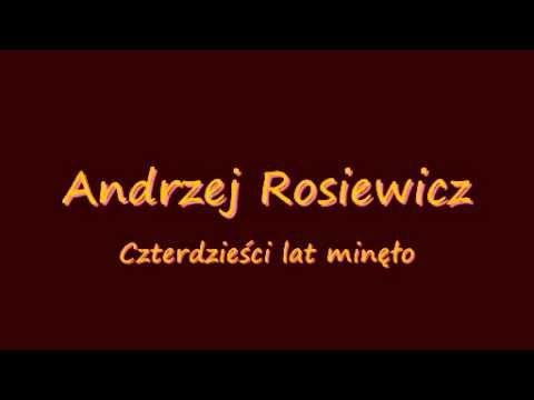 Andrzej Rosiewicz Czterdziesci Lat Minelo Piosenki Muzyka