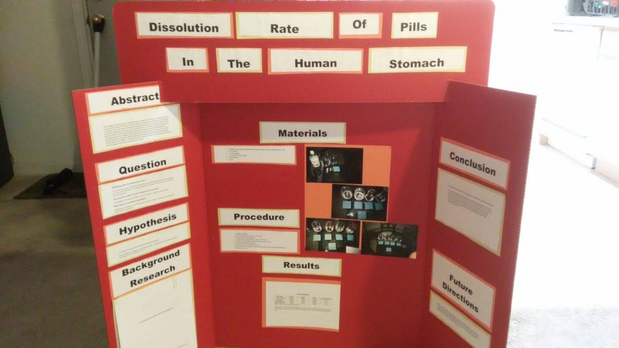 My Son S 9th Grade Science Fair Project