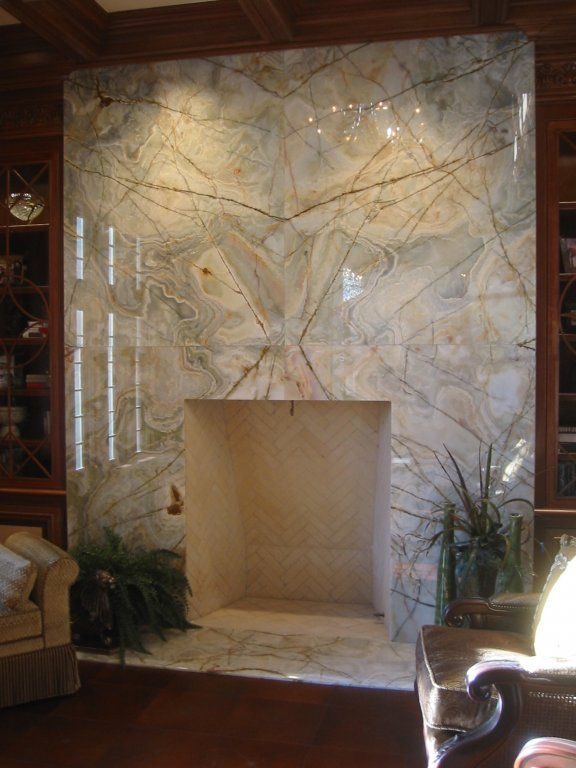 Butterflied Stone Slab Fireplace Surround For When I M