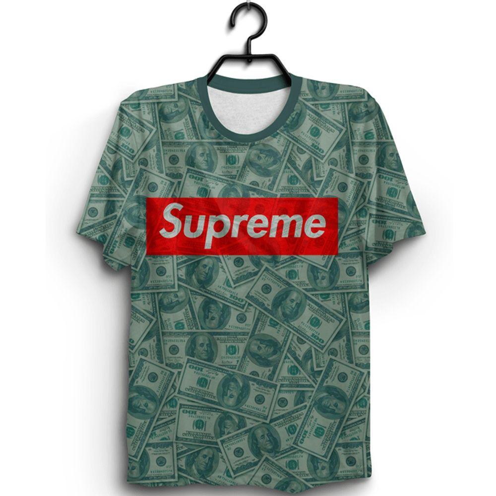 c96c283959 Camiseta Supreme Dollar em 2019