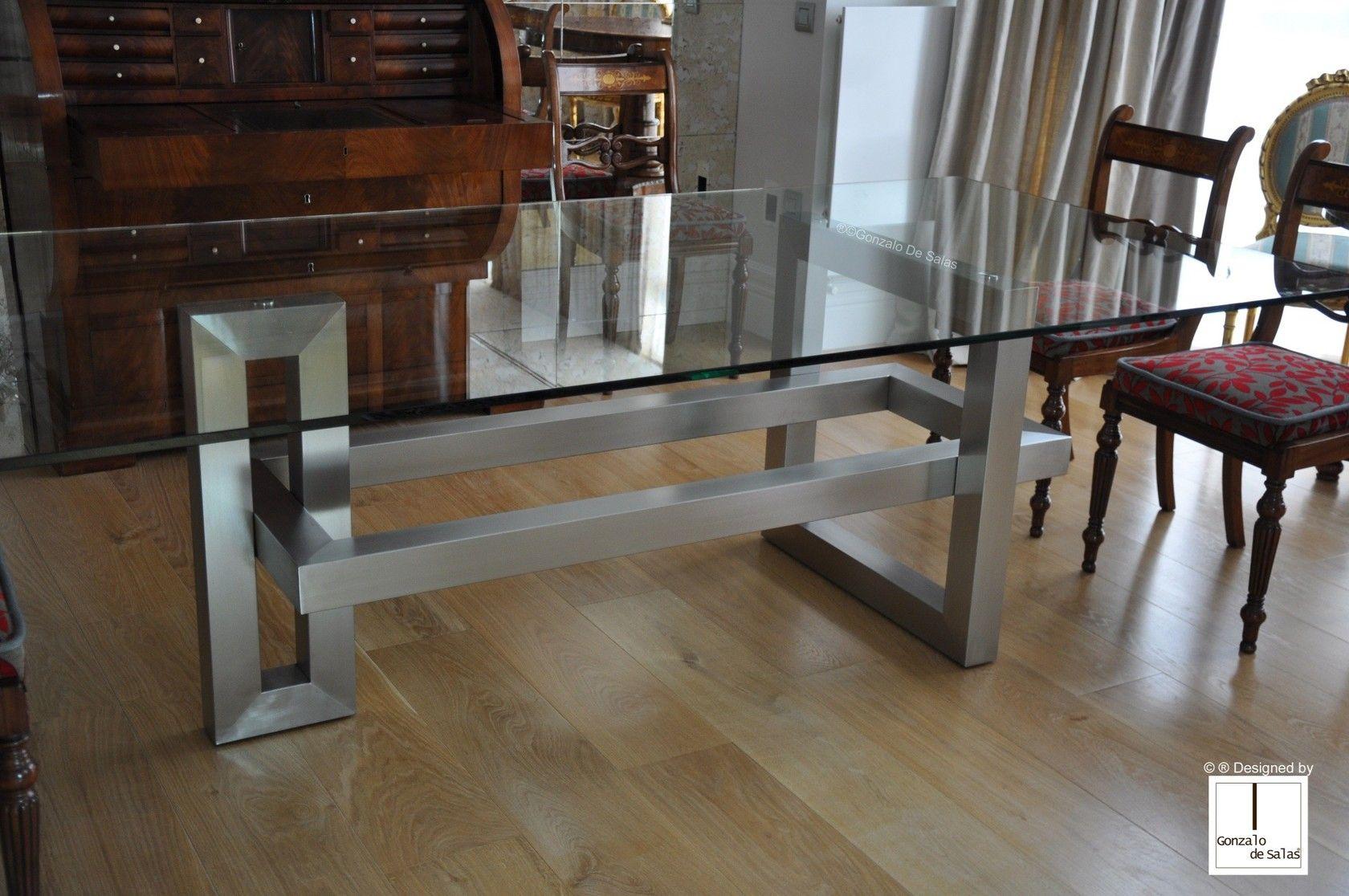 Mesa de comedor rectangular de vidrio ios mesa for Sala comedor comedor rectangular