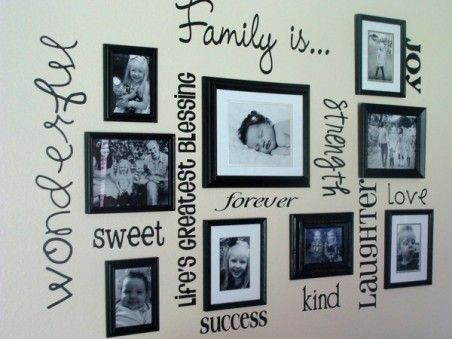 Home Design with Photo Frame Decoration Picture For the home