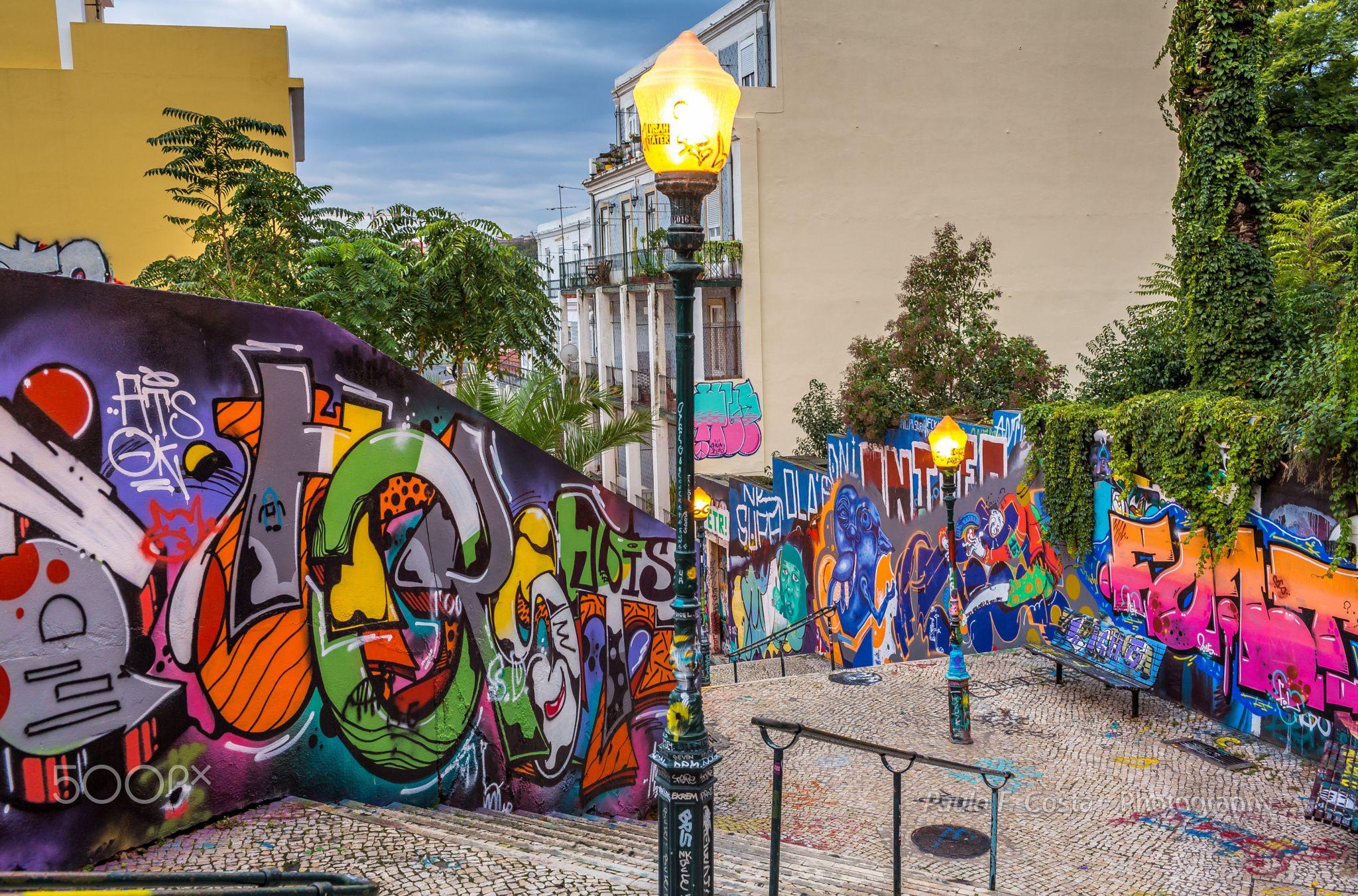 Lisbon graffiti graffiti walls on a street in lisbon is it art or vandalism