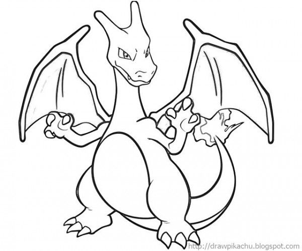 Printable Charizard Coloring TMcug
