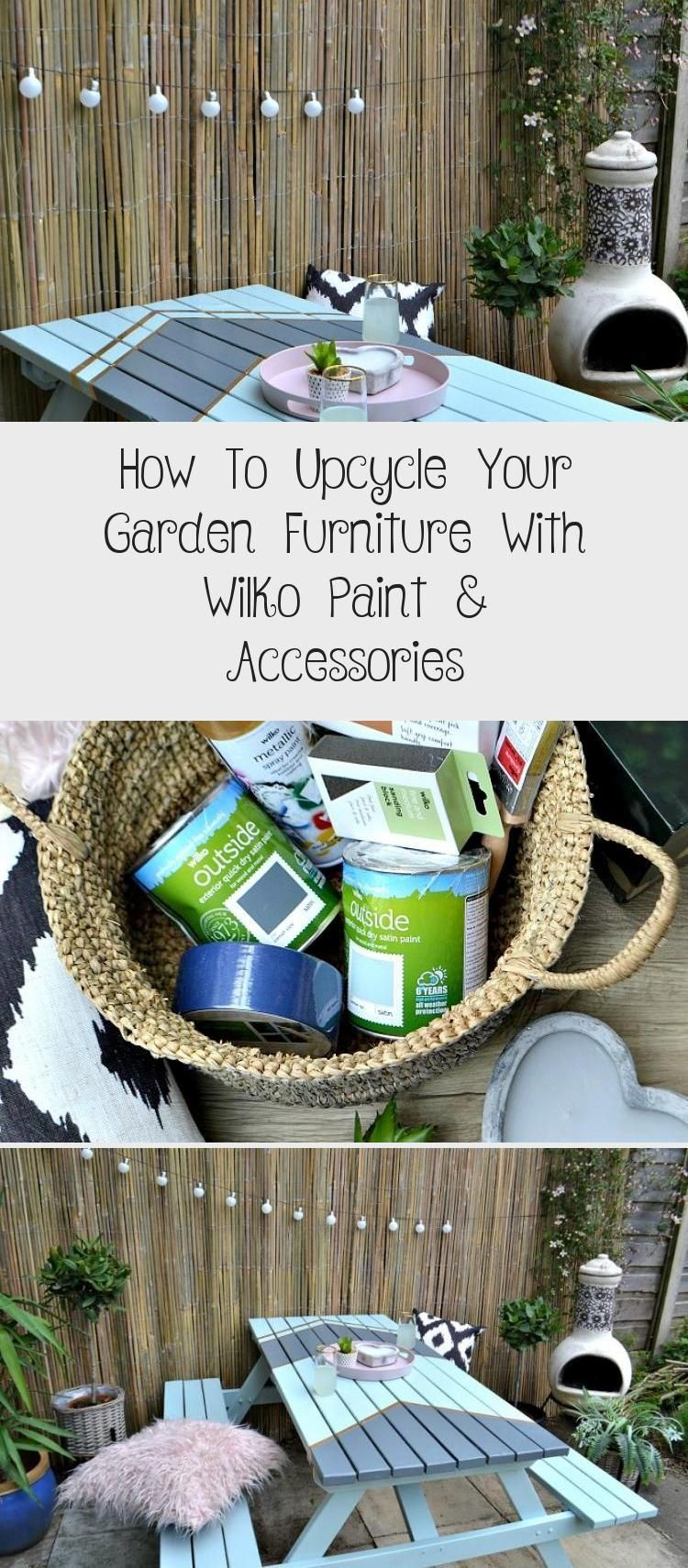 How To Upcycle Your Garden Furniture With Wilko Paint Accessories Garden Gard Accessories Furniture In 2020 Garden Furniture Wilko Paint Wooden Garden Furniture