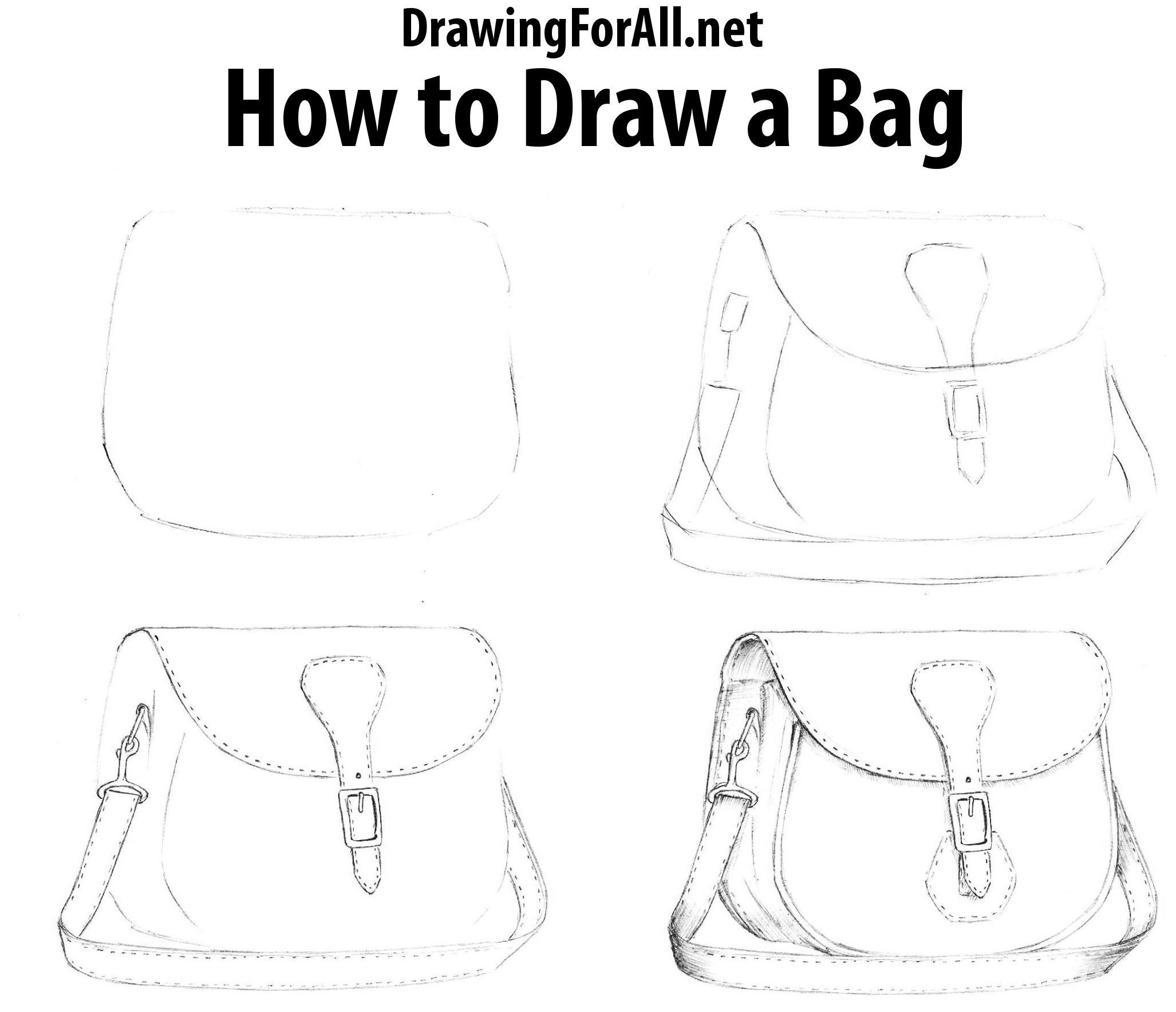 How To Draw A Bag Com Imagens Ideias Para Desenho Desenho