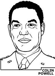 Colin Powell Coloring Pages Black History Month Jpg 192 263 Pixels