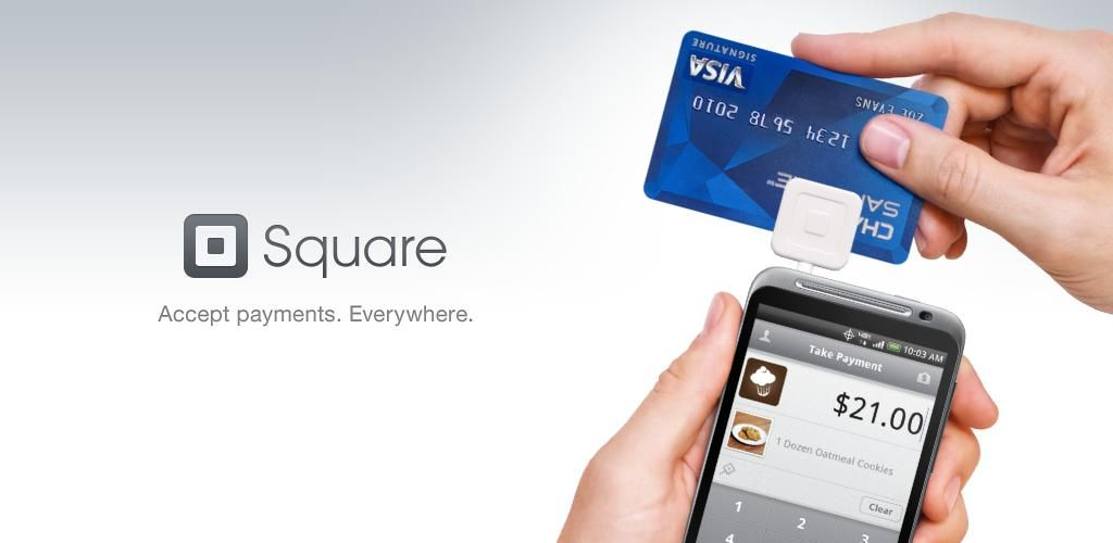 Accepting credit cards on my phone with a Square and it\'s app. Love ...