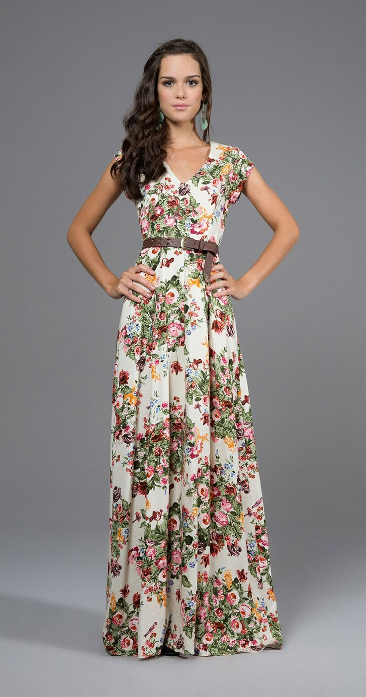 Just a Pretty Style: Fashion trends | Floral maxi dress | Projects ...